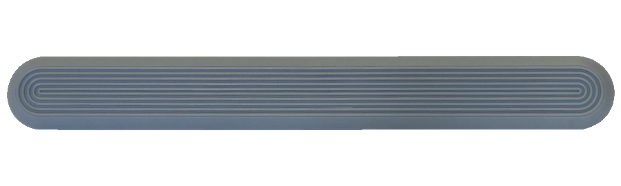 NPD1003 - Grey / Pin Back / Plain Side
