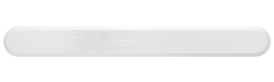 NPD1004 - White / Pin Back / Plain Side
