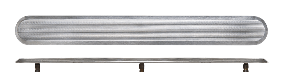 NSSD10 - Pin Back / Grooved Top / Plain Sides
