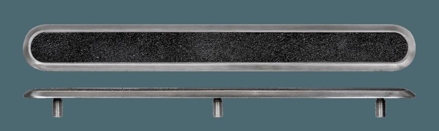 NSSD14 - Pin Back / Black Carb. Insert / Plain Sides