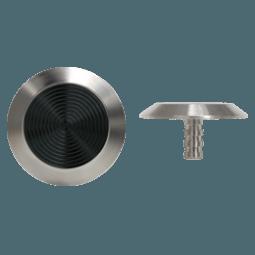 NSSS16 - Pin Back / Black PVC Insert